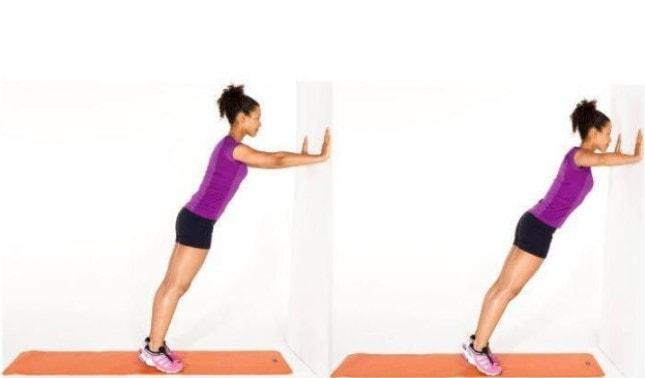 Bài tập đẩy tường giúp làm tăng kích thước vòng 1 ở tuổi dậy thì