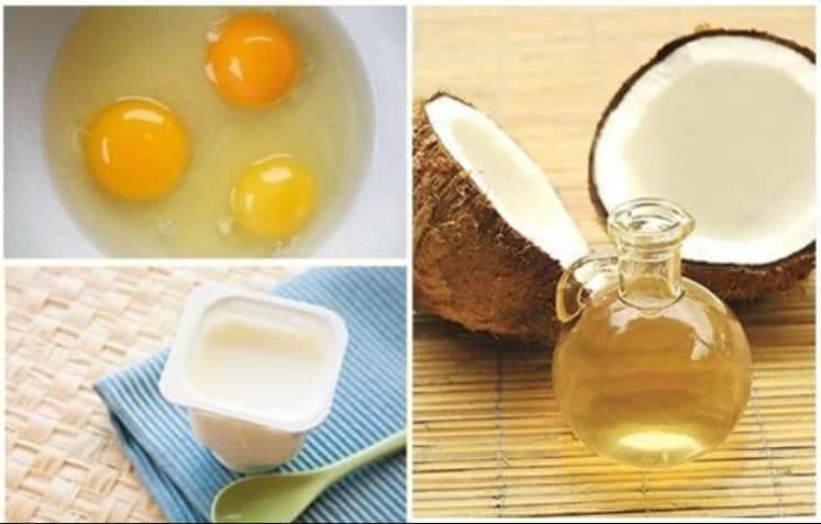 Cách làm nở ngực bằng trứng gà + dầu dừa + sữa chua