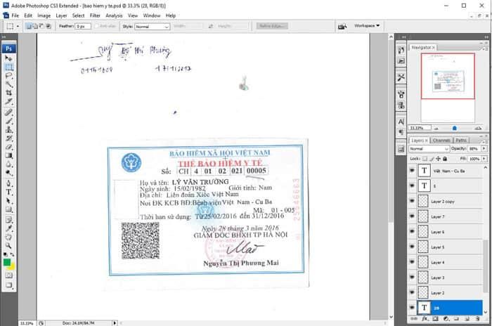 Fake thẻ bảo hiểm y tế