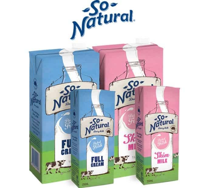 Sữa tươi So Natural giúp tăng chiều cao không béo