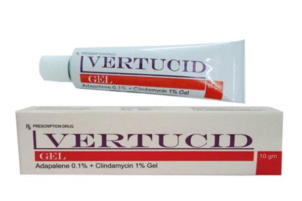 Thuốc trị mụn Vertucid dành cho nam