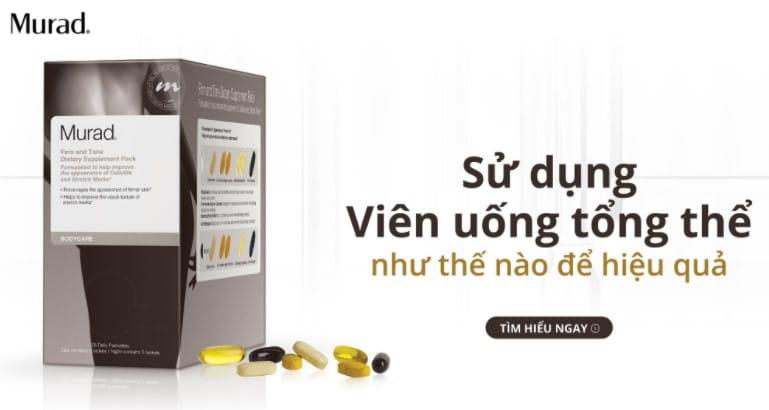 Viên uống Firm and Tone Dietary Supplement Pack Murad vitamin tổng hợp cho phụ nữ sau sinh