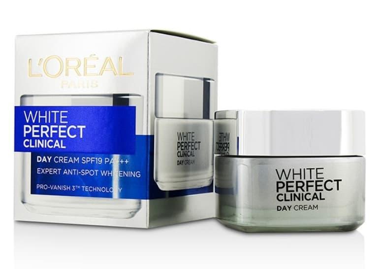Kem trị thâm nám và dưỡng trắng da ban đêm L'Oreal Paris White Perfect Clinical