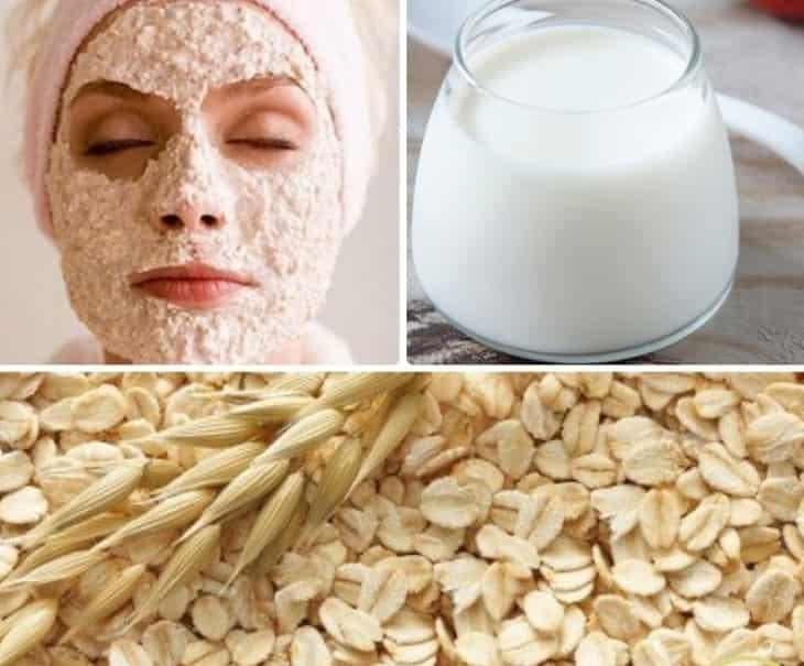 Mặt nạ bột yến mạch và sữa tươi