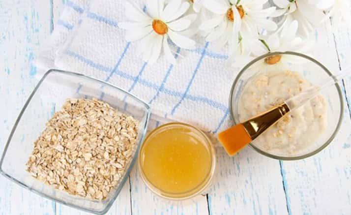Mặt nạ yến mạch, sữa tươi và mật ong