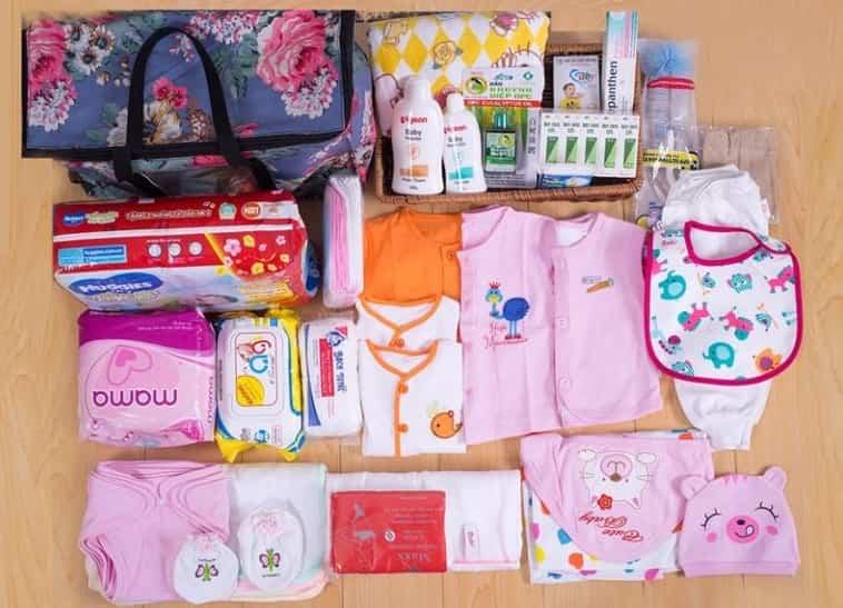 vật dụng mẹ bầu cần chuẩn bị trước khi sinh em bé